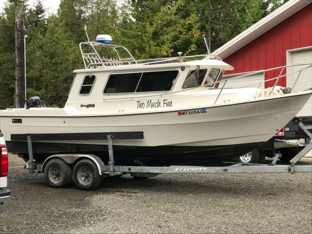 2001 Sea Sport Explorer, Volvo EFI Gas, Head, Galley, Heat, Trailer. $69,900
