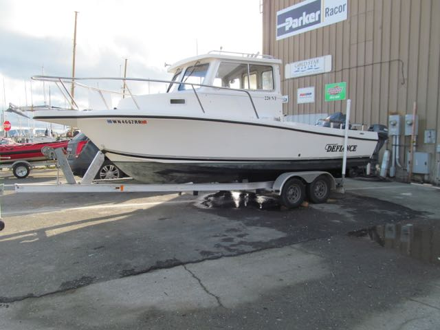 New 220 Defiance NT, 150 Yamaha, 15 Kicker with auto-steer, V-Berth, Trailer, $43,995
